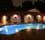 Thumbnail for Fiberglass LED pool swimming pool lights shown with white option at night