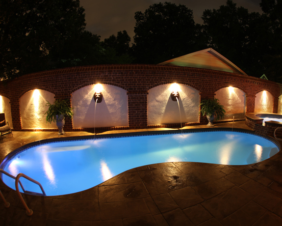 ... Thumbnail for Fiberglass LED pool swimming pool lights shown with white option at night ... & Fiberglass LED Pool Light - Official S.R. Smith Products azcodes.com