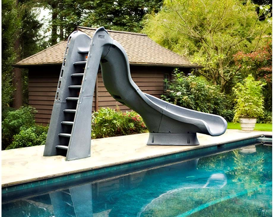 Thumbnail for TurboTwister pool slide shown in grey granite