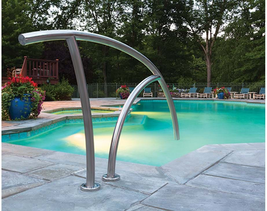 Handrails for inground pools swimming pool spa hand rail for Piscine poolman