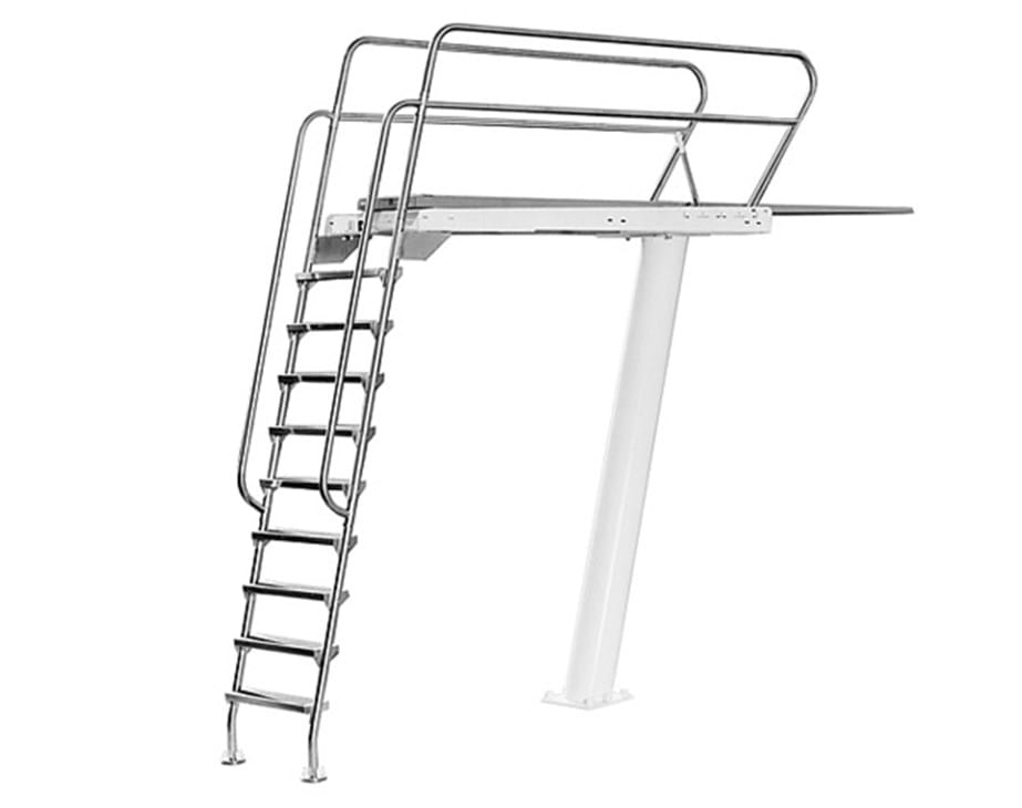 Deluxe 3 meter tower diving boards s r smith for Residential swimming pool dimensions in meters