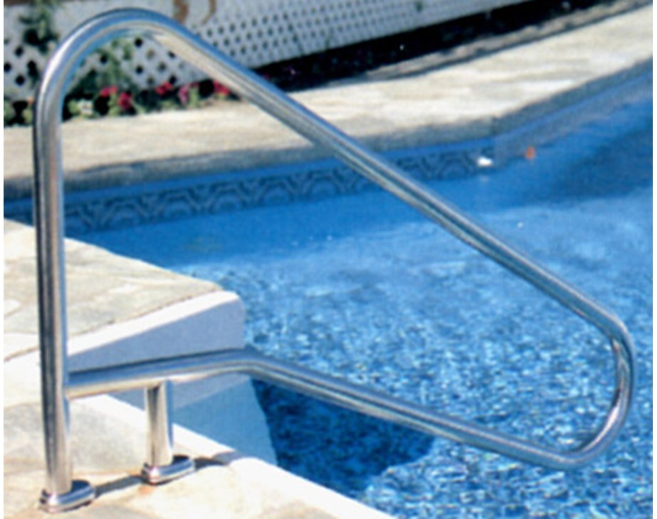 Handrail in Pavers | Trouble Free Pool