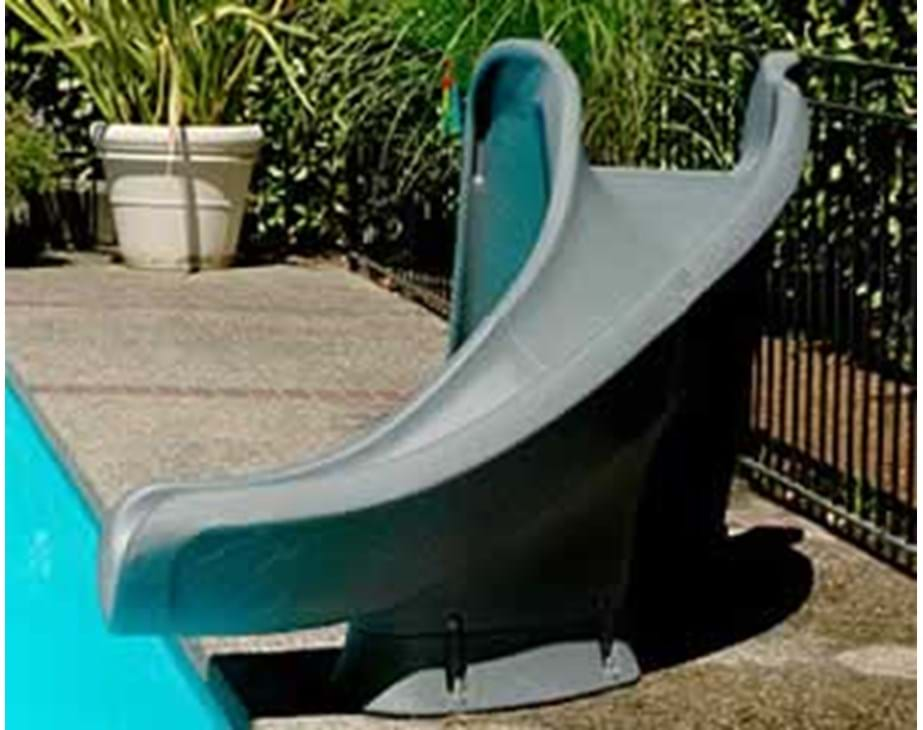 Thumbnail for Cyclone pool slide shown in typical implementation
