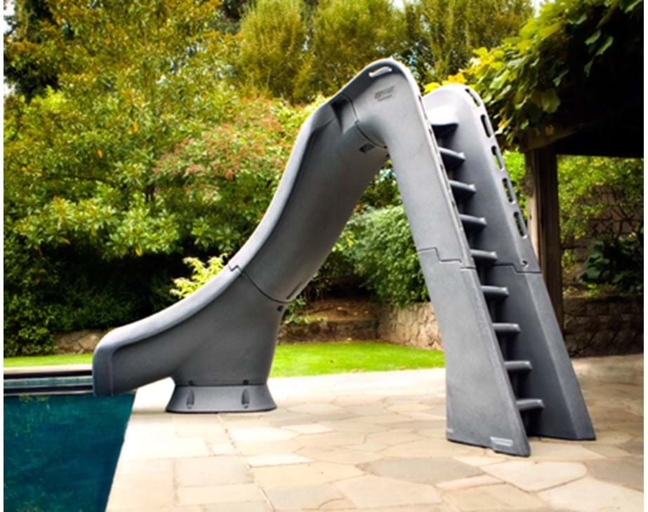 Thumbnail for Backside of the Typhoon pool slide showing the stairs