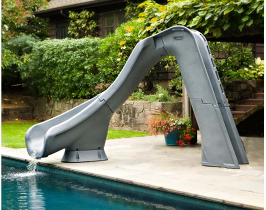 Thumbnail for Typhoon pool slide shown in typical implementation