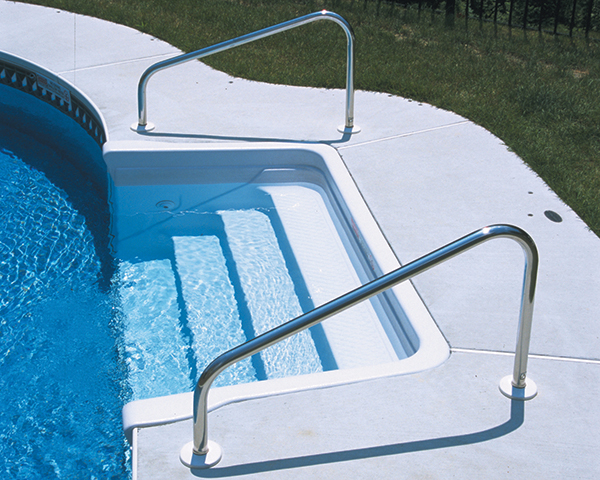 Swimming Pool Step Handrail : Swimming pool ladders handrails s r smith