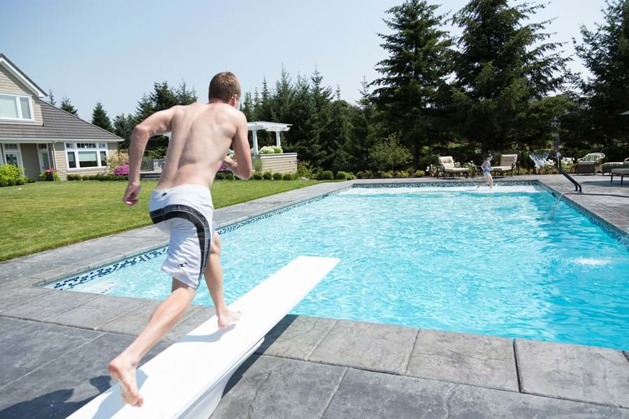 Inground Pools With Diving Board And Slide pool tips & pool guides - s.r. smith blog