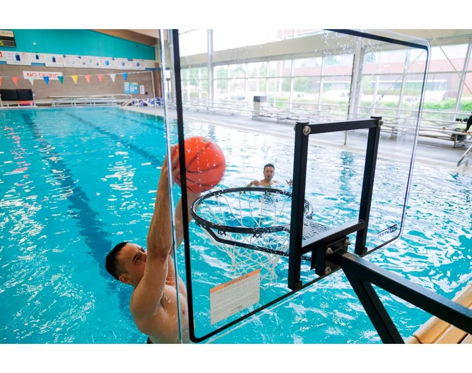 Pool Basketball Hoop Commercial Rocksolid Extended Reach S R Smith