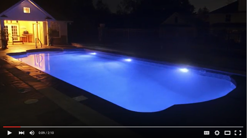 fiber optic to led pool light upgrade youtube. Black Bedroom Furniture Sets. Home Design Ideas
