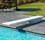 Thumbnail for A white Flyte-Deck II diving board on a swimming pool