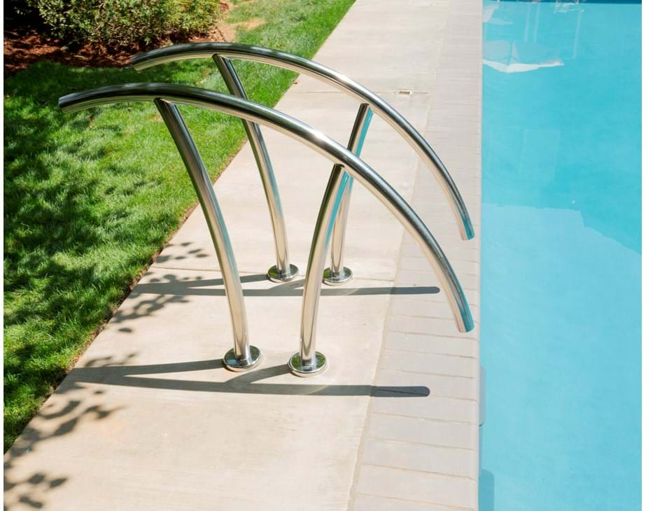 Thumbnail for Beautiful Artisan Pool Rails installed on a swimming pool.