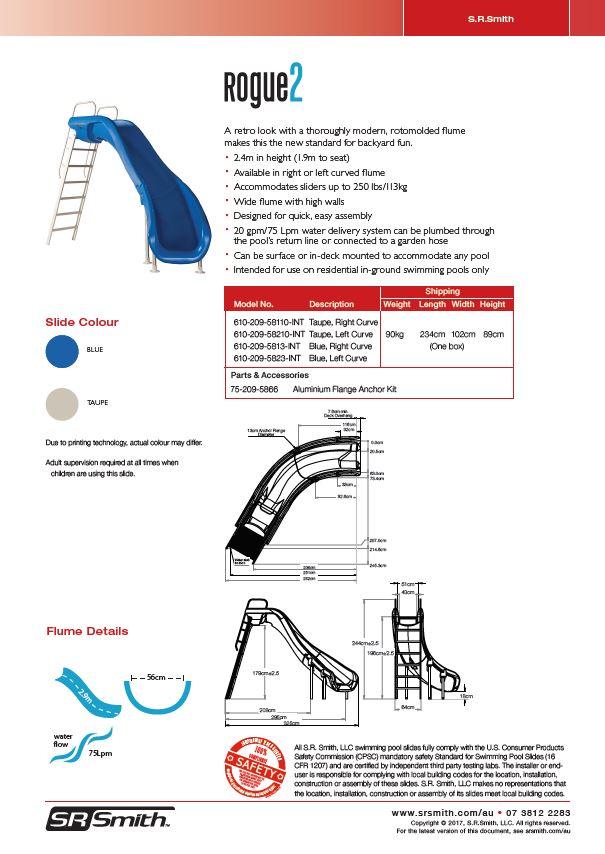 4f5e4808cc3d Rogue2 Pool Slide Data Sheet(pdf)