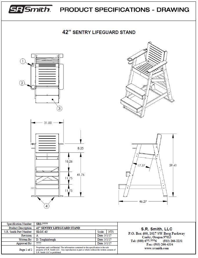 Sentry Lifeguard Chair