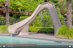 Swimming pool slides residential s r smith - Swimming pools with slides north west ...
