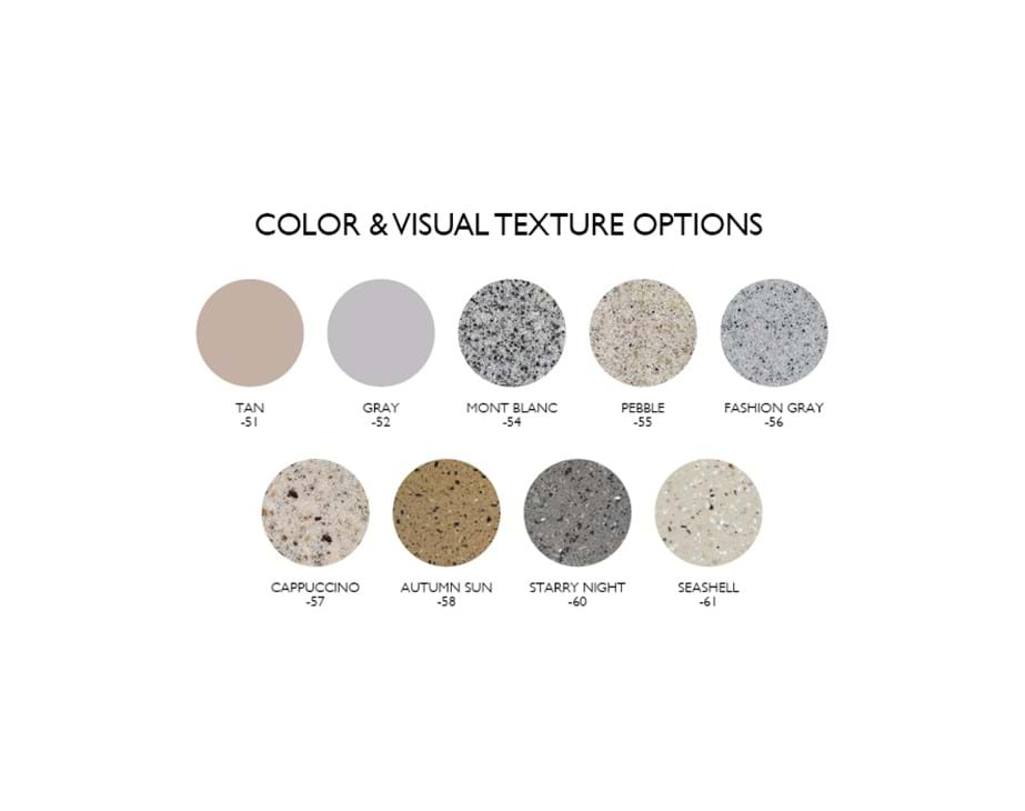 Thumbnail for In-Pool Furniture Color & Visual Texture Options