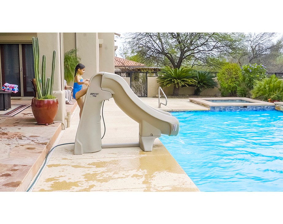 Slideaway The Safe Removable Pool Slide S R Smith