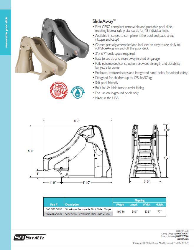 fe88cf2c3 SRS SlideAway™ The Safe Removable Pool Slide