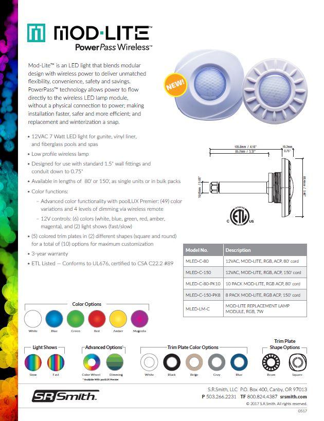 Mod-Lite™ wireless pool lighting | S R Smith Lighting